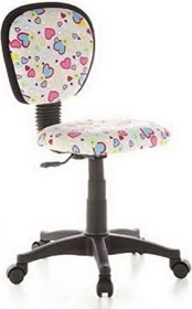 HJH Office Kiddy Top Kinderdrehstuhl, Motiv Flowers and Hearts (670170)
