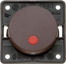 Berker Integro FLOW Kontroll-Ausschalter 2-polig, braun matt (937522501)