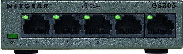 Netgear SOHO GS300 desktop Gigabit switch, 5x RJ-45 (GS305-100)