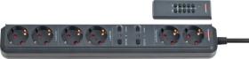 Brennenstuhl Eco-Line Funk 6-fach anthrazit, 2 permanent, 2x2 getrennt schaltbar, 1.80m (1159760636)