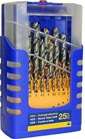 Fisch wood drill set, 25-piece. (013G0025K01)