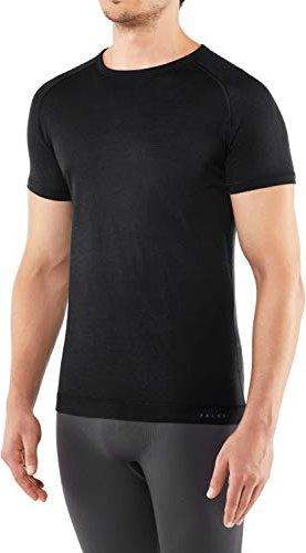 Falke Silk-Wool Shirt kurzarm anthracite melange (Herren) -- via Amazon Partnerprogramm