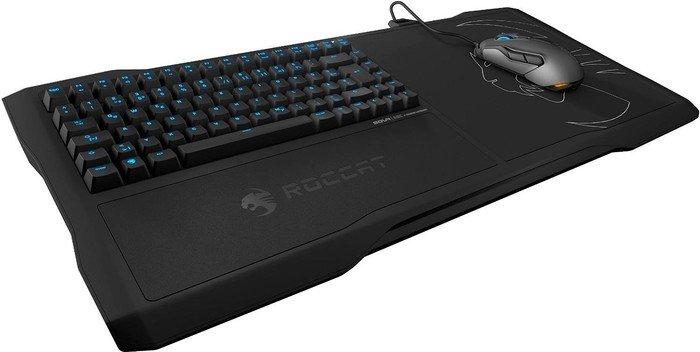 Roccat Sova MK Gaming Lapboard, schwarz, LED blau, TTC Brown, USB, DE (ROC-12-180-BN-DE)