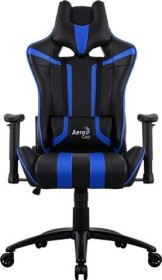 AeroCool AC120 AIR Gamingstuhl, schwarz/blau (AC120AIR-BB)