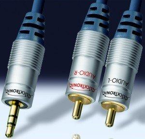 Clicktronic HC90 3.5mm Klinke/Composite Audio Kabel 10m (HC90-1000)