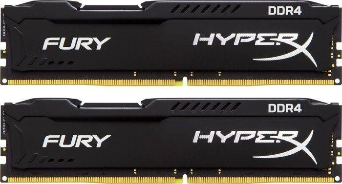Kingston HyperX Fury schwarz DIMM Kit 8GB, DDR4-2133, CL14-14-14 (HX421C14FBK2/8)
