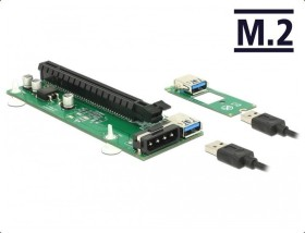 DeLOCK Riser Card M.2 Key B+M > PCI Express x16 with 30cm USB cable (41428)