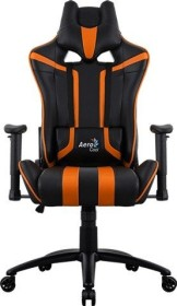 AeroCool AC120 AIR Gamingstuhl, schwarz/orange (AC120AIR-BO)