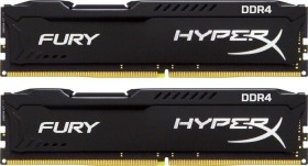Kingston HyperX Fury schwarz DIMM Kit 16GB, DDR4-2133, CL14-14-14 (HX421C14FBK2/16)
