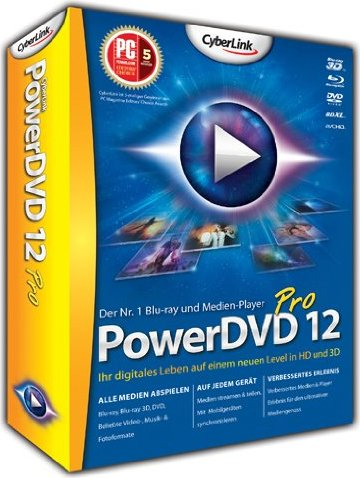 CyberLink: PowerDVD 12.0 Pro (deutsch) (PC) -- via Amazon Partnerprogramm