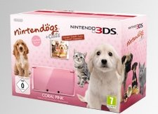 Nintendo 3DS Basic unit, Nintendogs + Cats Bundle, Coral Pink