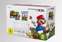 Nintendo 3DS Grundgerät, Super Mario 3D Land Bundle, Ice White