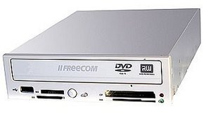 Freecom FC-10 DVD+/-RW with card reader (various colours) (22407/22234)