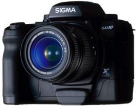 Sigma SD10 schwarz mit Objektiv AF 18-50mm 3.5-5.6 DC und AF 55-200mm DC (AJV900)