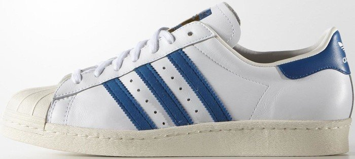 adidas Superstar 80s white/dark royal/chalk white (Herren) (G61068)
