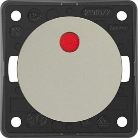 Berker Integro FLOW Kontroll-Ausschalter 2-polig, chrom matt (937522568)