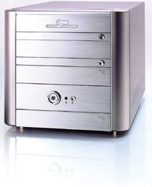 Soltek QBIC EQ3705A mini-Barebone aluminum (Socket A/200/dual PC3200 DDR)