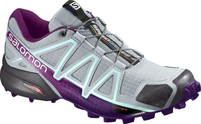 Salomon Speedcross 4 Damen Traillaufschuhe, Grau (Quarry/Acai/Fair Aqua), 38 EU