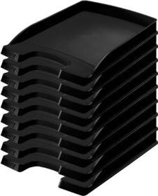 Leitz Plus Briefkorb Flach A4, schwarz (52370095)