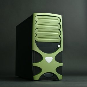 Chenbro PC61166 Gaming System Green (ohne Netzteil) -- © CWsoft