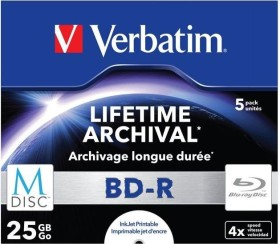 Verbatim M-DISC BD-R 25GB 4x, 5er Jewelcase printable (43823)
