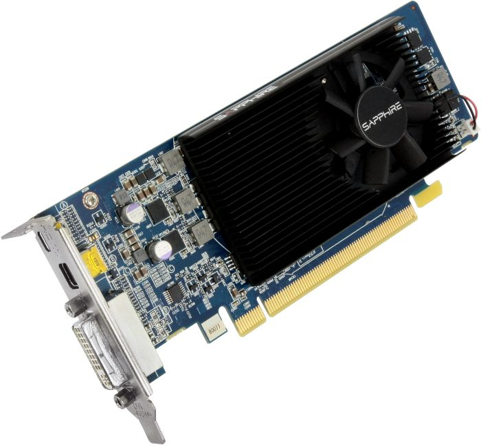 Sapphire Radeon HD 7750, 1GB GDDR5, DVI, Micro HDMI, mini DisplayPort, low profile (11202-10-20G)