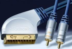 Clicktronic HC3 SCART/composite video + coaxial audio cinch cable 3m (HC3-300)
