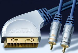 Clicktronic HC3 SCART/composite video + coaxial audio cinch cable 3m (HC3-300)