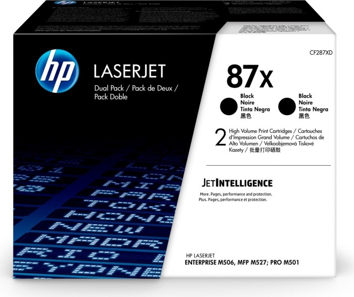 HP Toner 87X black, 2-pack (CF287XD)
