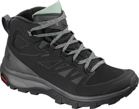 Salomon OUTline Mid GTX black/magnet/green milieu (Damen) (404844)