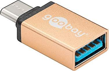 Wentronic Goobay 56622 gold, USB-C 3.1 [plug] to USB-A 3.0 [socket]