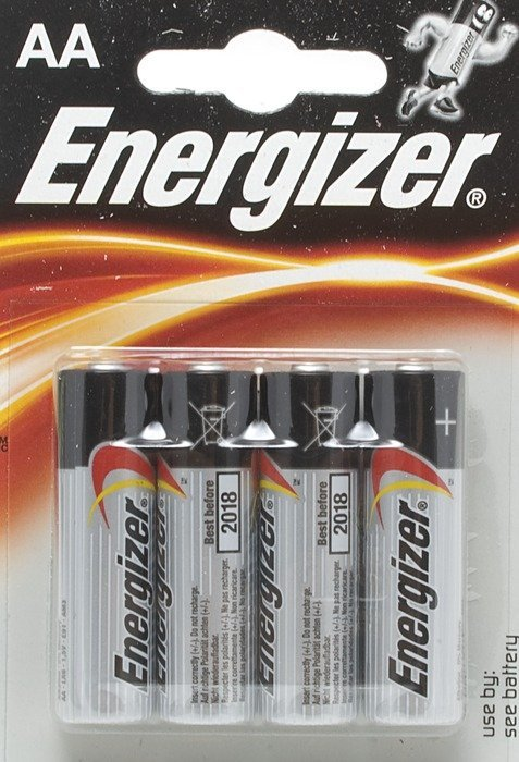 Energizer high-tech Mignon AA LR6, alkali, 1.5V, 4-pack -- provided by bepixelung.org - see http://bepixelung.org/21132 for copyright and usage information