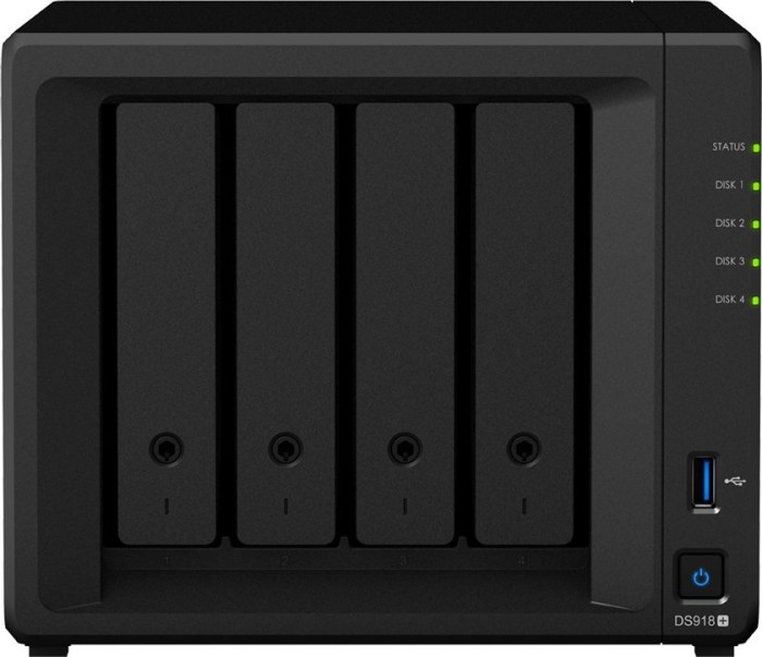 Synology DiskStation DS918+, 4GB RAM, 2x Gb LAN