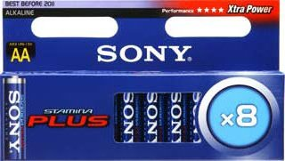 Sony Stamina Plus Mignon AA, 8-pack (AM3M8A)