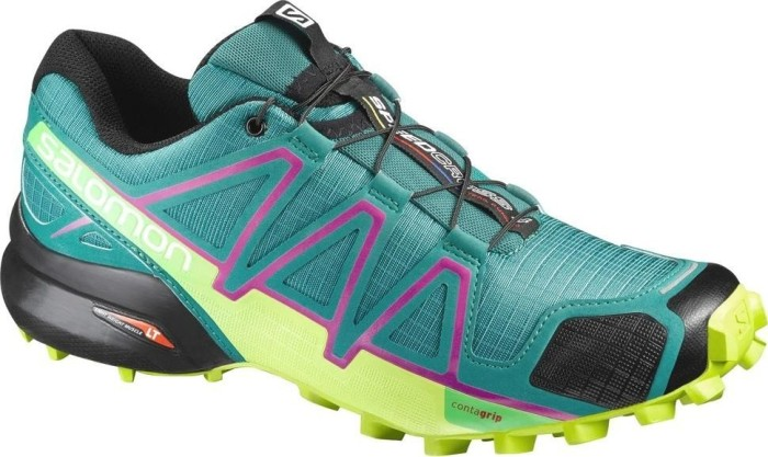 Salomon Damen Speedcross 4 W Traillaufschuhe, Grün (Deep Peacock Blue/Lime Punch./Grape), 39 1/3 EU