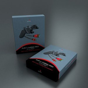 Gioteck Play & Charge pack (PS3)