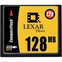 Lexar CompactFlash Card (CF) HighSpeed 12x 128MB (CF128-12)