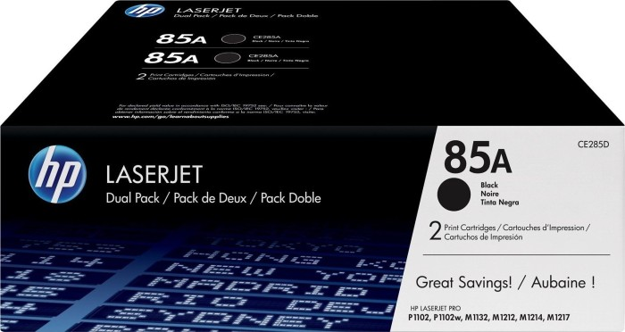 HP Toner 85A black, 2-pack (CE285AD)