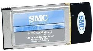 SMC EliteConnect Wireless Adapter 11Mbps, CardBus (2531W-B)