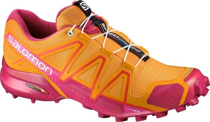 Salomon Damen Speedcross 4 W Traillaufschuhe, Orange (Bright Marigold/Sangria/Rose Violet), 38 EU (5 UK)