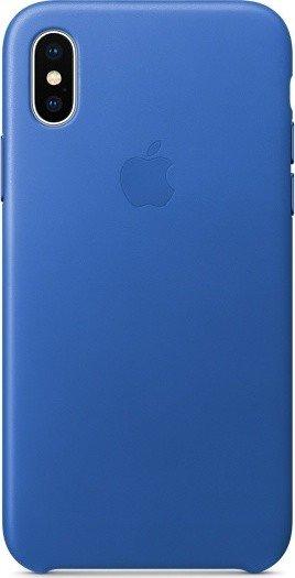 Apple Leder Case für iPhone X electricblau (MRGG2ZM/A)
