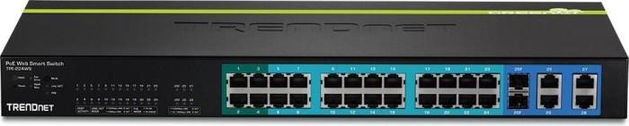 TRENDnet TPE Desktop Gigabit Smart Switch, 26x RJ-45, 2x RJ-45/SFP, PoE+ (TPE-224WS)