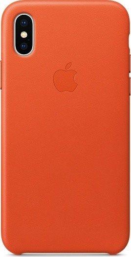 Apple Leder Case für iPhone X hellorange (MRGK2ZM/A)