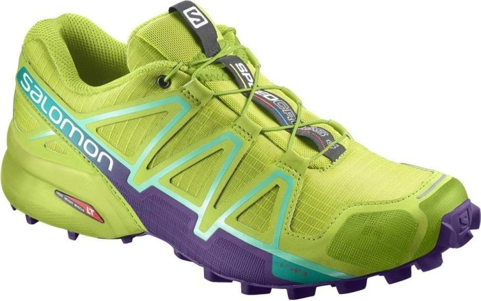 Salomon Damen Speedcross 4 Traillaufschuhe, Mehrfarbig (Lime Punch/Biscay Green), 40 2/3 EU