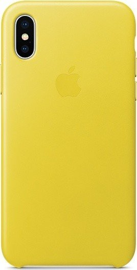 Apple Leder Case für iPhone X frühlingsgelb (MRGJ2ZM/A)