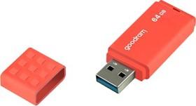 goodram UME3 orange 64GB, USB-A 3.0 (UME3-0640O0R11)
