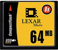 Lexar CompactFlash Card (CF) Value 8x 64MB (CF064-08)