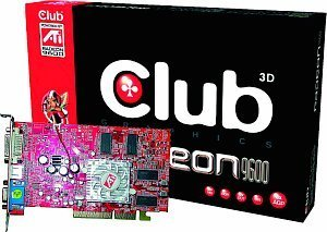 Club 3D Radeon 9600 Pro LE Value, 128MB DDR, DVI, TV-out, AGP (CGA-E968TVD)