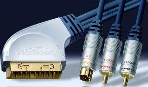 Clicktronic HC7 SCART/S-Video + Composite Audio Kabel 3m (HC7-300)
