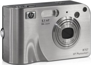 HP Photosmart R707 silber mit Dockingstation (Q2233A)